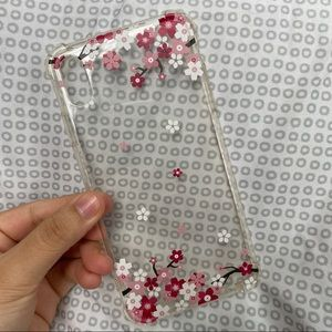 iPhone XS Max phone case: clear w floral design